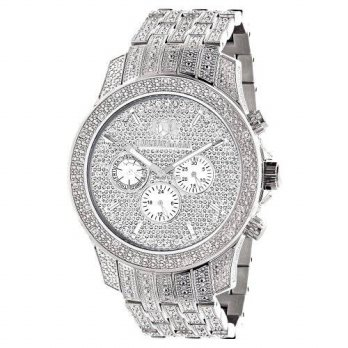 [macyskorea] Luxurman Iced Out Watches LUXURMAN Real Diamond Watch for Men in Stainless St/15779424