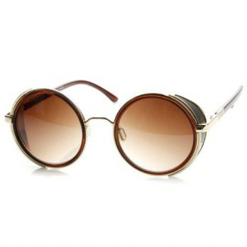 [macyskorea] ZeroUV zeroUV - Studio Cover Metal Frame Side Shield Round Sunglasses (Brown-/15214933