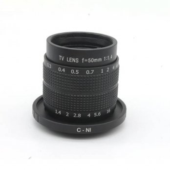 [globalbuy] Kits 50mm C-Mount CCTV Lens + N1-mount adapter ring for Nikon micro camera (bl/3688106