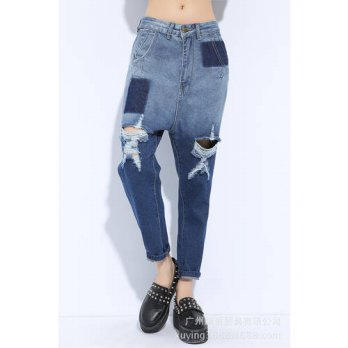 [globalbuy] installed summer and autumn 2016 personality hole harem pants beggar hanging f/4197400