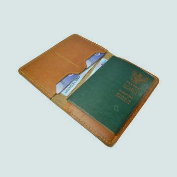 Dompet paspor kulit asli model simpel warna tan | passport cover