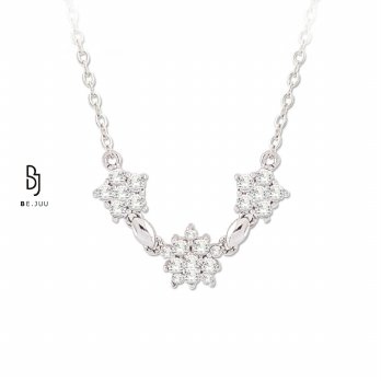 BE.JUU Kalung Love Blossoming Silver Korean Jewelry