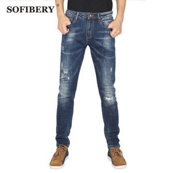 [globalbuy] SOFIBERY brand jeans stretch jeans biker jeans men Mens Slim Fit Jeans HZ10250/4203056