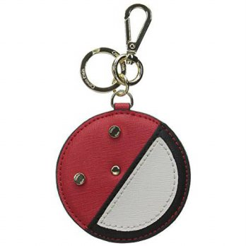 [macyskorea] Calvin Klein Saffiano Leather Key Fob Coin Purse, Red Combo, One Size/13043400