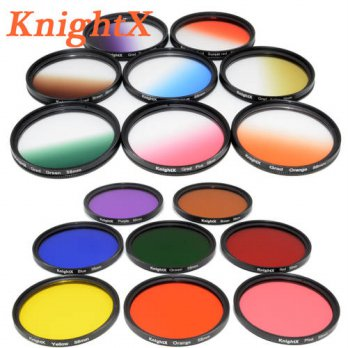 [globalbuy] KnightX Color Lens Filter Red ND For Canon nikon d3200 d3300 d5500 d5300 1200D/3687540