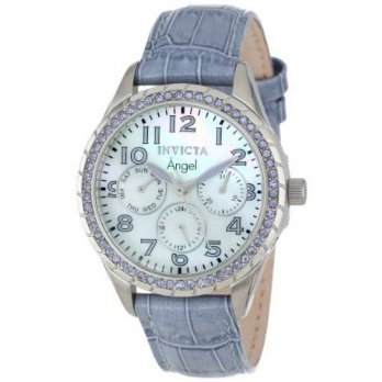 [macyskorea] Invicta Womens 12607 Angel Mother-Of-Pearl Dial Crystal Accented Light Purple/16133820