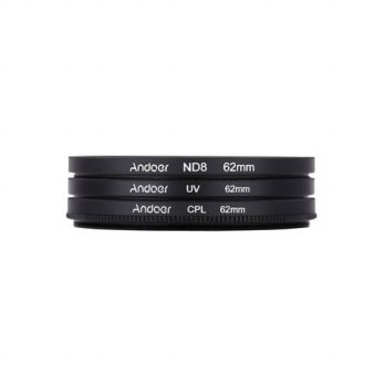 [globalbuy] Oversea Stock Andoer 62mm UV+CPL+ND8 Filter Kit ND8 Neutral Density Filter wit/3687548