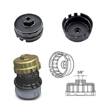 [macyskorea] Bentolin Toyota Lexus Oil Filter Wrench for 2.5L to 5.7L Engines With 64mm Ca/14235913
