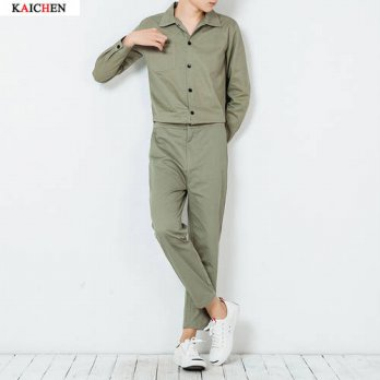 [globalbuy] 2016 New Mens clothing male fashion casual jumpsuit bodysuit slim trend lovers/4202193