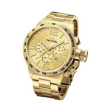 [macyskorea] Mens TW Steel Canteen Bracelet Gold-Tone Chronograph Watch/13076063