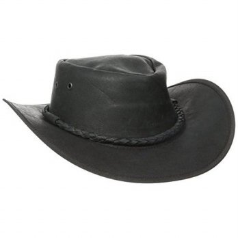 [macyskorea] Henschel Soft Cowhide Outback Hat, Black, Large/15131920