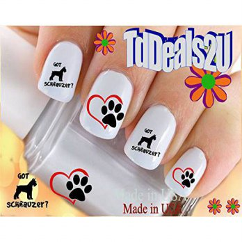 [macyskorea] HipZySticKy Schnauzer 4 Got Schnauzer - Dog Breed Nail Decals - WaterSlide Na/11626836