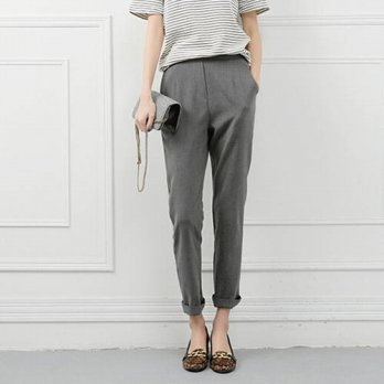 [globalbuy] New Fashion 2015 Spring Autumn Brand Casual Women Pencil Pant Solid Color Elas/4196537