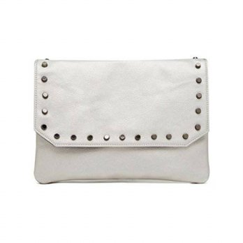 [macyskorea] HButler Hbutler Womens MightyPurse Flap Bag, Silver with Gunmetal Studs, OS/15136423