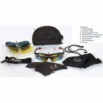 KACAMATA SPORTS OUTDOOR 6IN1 OAKLEY / KACAMATA BERSEPEDA / PETUALANG ADVENTURE