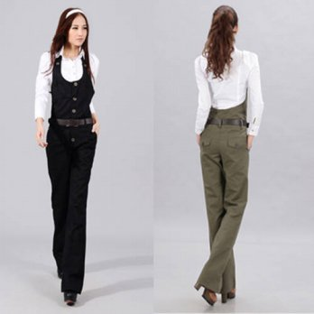 [globalbuy] 2016 Stretch High Quality Spring And Autumn Casual Jumpsuit Trousers Bib Pants/4196494