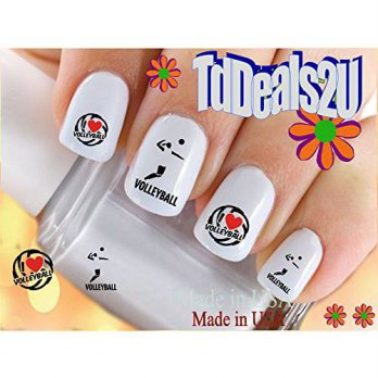 [macyskorea] HipZySticKy Volleyball I Love RED- Sports Nail Decals - WaterSlide Nail Art D/11626588