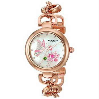 [macyskorea] Akribos XXIV Womens Swarovski Crystal Landscaped White Mother-of-Pearl Dial w/12399514