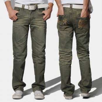 [globalbuy] mens clothing thick fabric slim crumple the trend of retro finishing jeans/4202096