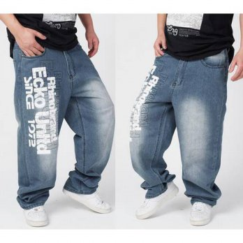 [globalbuy] 2016 Hot Sale Fashion Mens Boys Hip Hop Washed Loose Casual Jeans Pants Denim /4202092