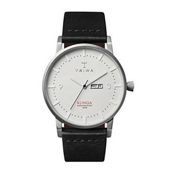 [macyskorea] Triwa Mens Klinga Leather Strap Classic Watch (Black Dawn)/16134025