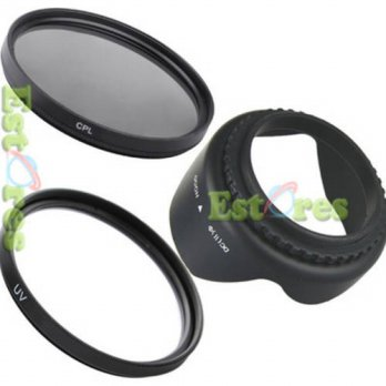 [globalbuy] 100 New 52mm UV Filter + CPL filter + Flower lens hood For Canon Nikon Sony Ol/3687416