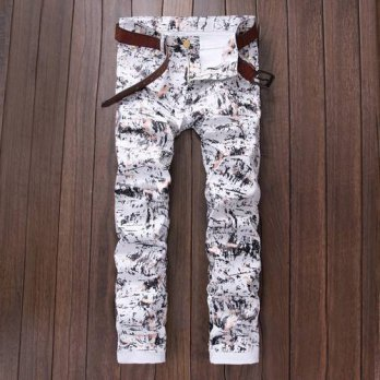 [globalbuy] Four seasons can wear European trend straight cotton jeans fashion trousers la/4202010