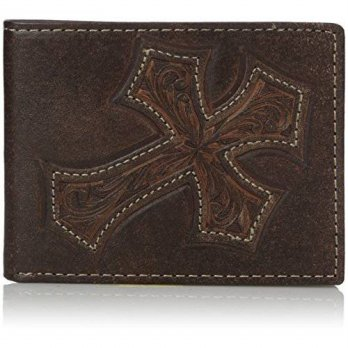 [macyskorea] Nocona Boots Nocona Mens Diagnol Cross Bifold, Brown, One Size/16208014