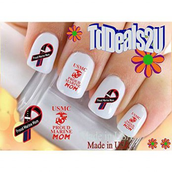 [macyskorea] HipZySticKy Military - Marine MOM - WaterSlide Nail Art Decals - Highest Qual/11470496