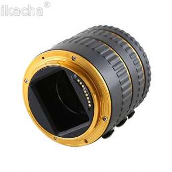 [globalbuy] Gold Metal Mount Auto Focus AF Macro Extension Tube Ring for Canon EOS EF-S Le/3687371