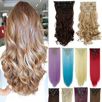[macyskorea] DODOING 8Pcs 18 Clips 17-26 Inch Curly Straight Thick Full Head Clip in Hair /16074338