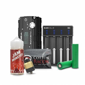 Augvape MOD V200+Jamonster Strawberry Liq + Blackcell + VCT 4 + Thugnation + Bacon Cotton