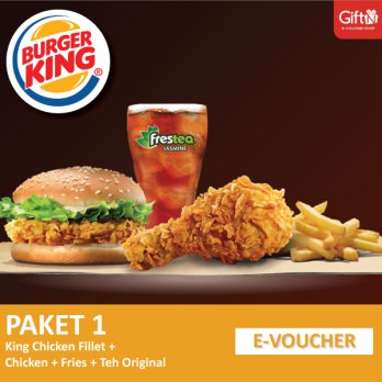 Burger King - King Chicken Fillet + Fries (R) + Chicken + Jasmine Tea (R)