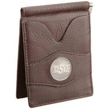 [macyskorea] Danbury Mens Oklahoma State University Front Pocket Money Clip, Brown, One Si/13689040