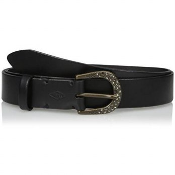 [macyskorea] Fossil Womens Rhinestone Buckle Belt, Black, X-Large/13677517