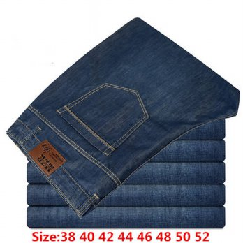 [globalbuy] Large Size Mens Clothing men Jeans Pants Man Fashion Brand New Denim mens Jean/4201423