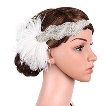 [macyskorea] BABEYOND Babeyond Womens Vintage Ostrich Feather Headband 20s Headpiece 1920s/15423262