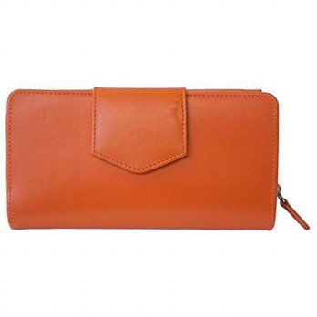 [macyskorea] ILI ili Leather 7410 Checkbook Wallet with RFID Blocking (Orange)/14125868