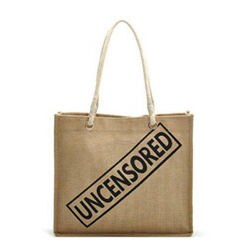 [macyskorea] Flowertree Burlap Handmade Ecofriendly Square Tote Bag in Tan (UNCENSORED pri/14172816