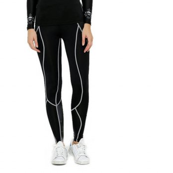 [globalbuy] Women/girls Comprssion Long Pants Fitness Professional Pant Exercise Keep Slim/4195593