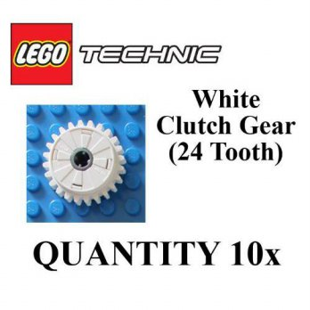 [macyskorea] LEGO Technic 10 pcs WHITE CLUTCH GEAR 24 Tooth Teeth Mindstorms NXT Lot Part /13723977