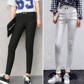 [globalbuy] 2016 Autumn Winter Women Casual High Stretch Black Skinny Pants Elastic Slim T/4195586