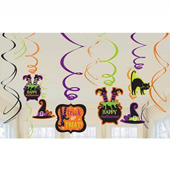 [macyskorea] Amscan Halloween Witchs Brew Foil Swirl Decoration Value Pack- 12 Pack/13723880