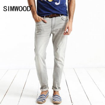 [globalbuy] Simwood Jeans Men 2016 New Brand Clothing Fashion Solid Slim Fit Plus Size Mid/4201326