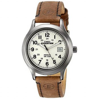 [macyskorea] Timex Mens T49870 Expedition Metal Field Brown Leather Strap Watch/14049999