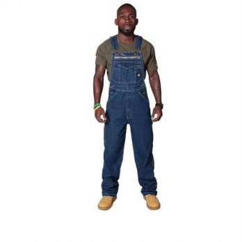 [globalbuy] 2016 Autumn New Brand Mens Bib Overalls High Quality Denim Zipper Fly Overalls/4201280