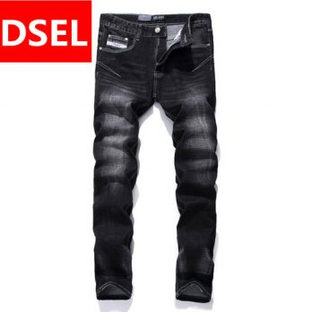 [globalbuy] Cool Black Jeans Men Straight Denim Biker Jeans Trousers Designer Dsel Brand J/4201294