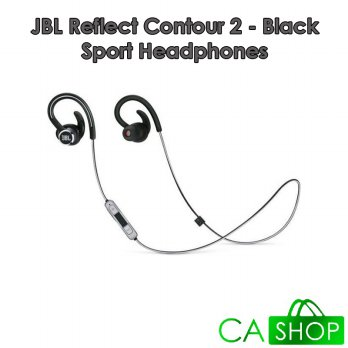 JBL Reflect Contour 2 Sport Headphones - Black - Baru NEW - Resmi IMS