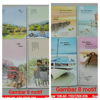 BUKU RING MIKA BESAR B5 OUR STORY BEGINS 16K60-153