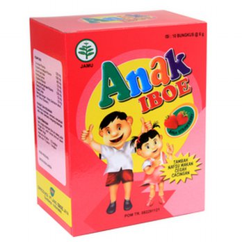 Jamu IBOE Anak - 1 Box Strawberry 5 sachet